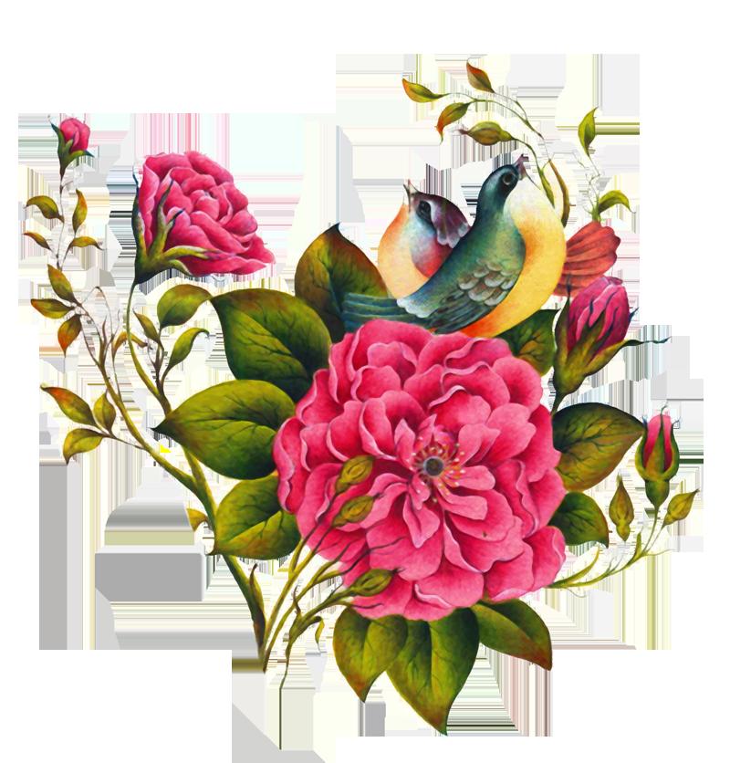 فایل لایه باز گل و مرغ